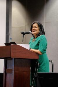Congresswoman Pramila Jayapal gives the keynote address at the ATJ Conference